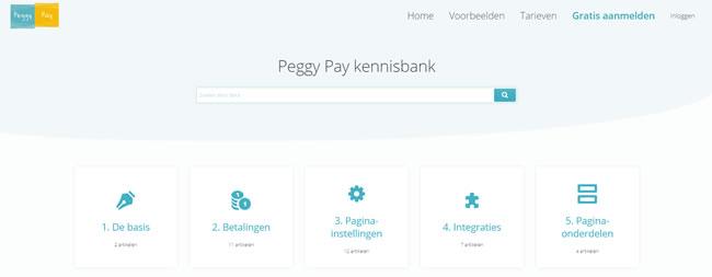 Vernieuwde overzichten - Peggy Pay