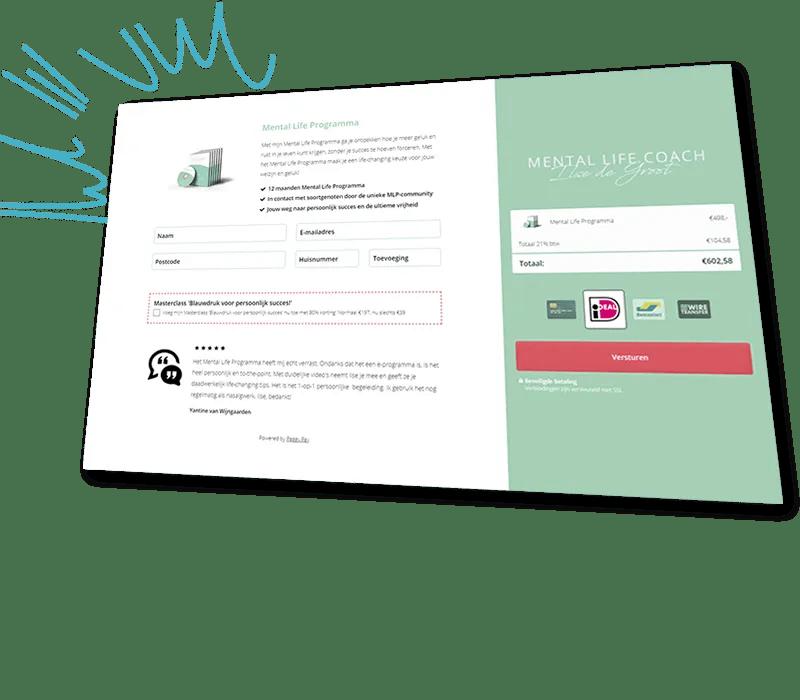 Bekijk onze geoptimaliseerde voorbeelden van kant-en-klare betaalpagina's - Peggy Pay