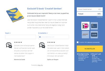 Betaalpagina voor een ebook